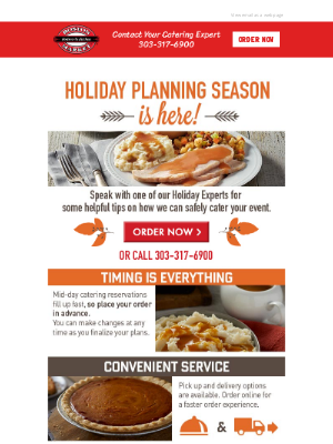 Boston Market - Holiday Planning Season Is Here - Cater Your Event Today!