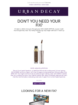 Urban Decay - Don't Go Any Longer Without Your Fix