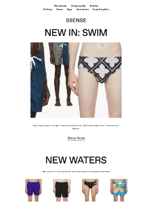 SSENSE - Deep Dive into SS21 Swimwear