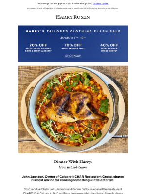 Harry Rosen - Dinner with Harry: How to Cook Game