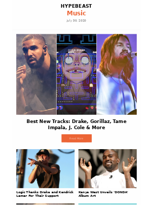 This Weeks Top Music Stories: Best New Tracks: Drake, Gorillaz, Tame Impala, J. Cole & More and more