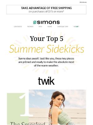 Simons Canada - 5 sunny day sidekicks ☀