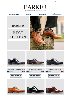 Barker Shoes - Don't Miss Out On Best Selling Styles From Barker