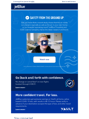 JetBlue Airways - Airing on the side of safety. Literally.