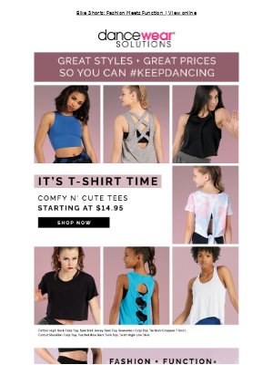 Dancewear Solutions - It's T-Shirt Time