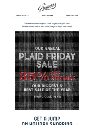 Grayers - 35% Off Sitewide...Amazing deals going strong