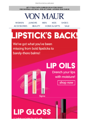 Von Maur - Fall in Love with Lipstick All Over Again!