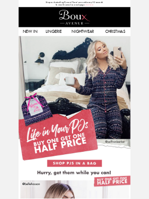 Boux Avenue - PJs in a bag = Buy one get one half price 🎉