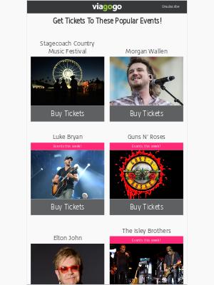 viagogo - Stagecoach Country Music Festival, Morgan Wallen, Luke Bryan...