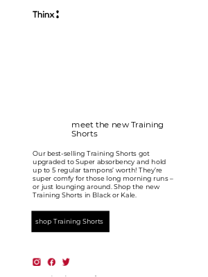 THINX - Remember the Training Shorts? This is them now 👟