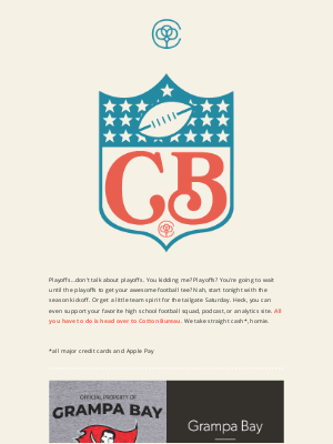 Cotton Bureau - 1 hour to kickoff! Do you know where your football tee is?