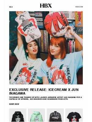 HYPEBEAST - ICECREAM x JUN INAGAWA Exclusive Capsule