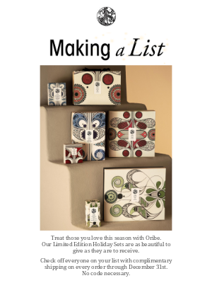 Oribe - Ready, Set, Holiday with Complimentary Shipping