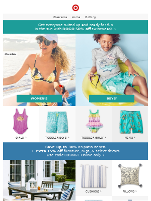 Save on swim for the whole fam!