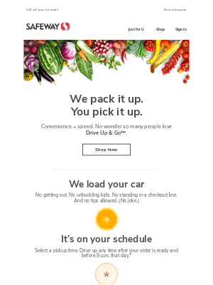 Skip the line, every time with grocery pickup