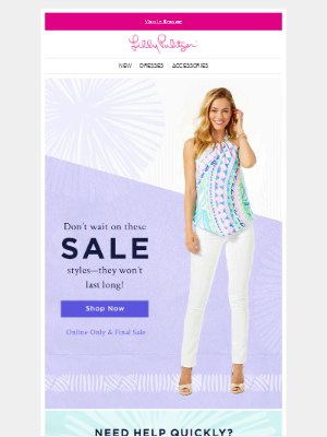 Lilly Pulitzer - New styles added to sale!