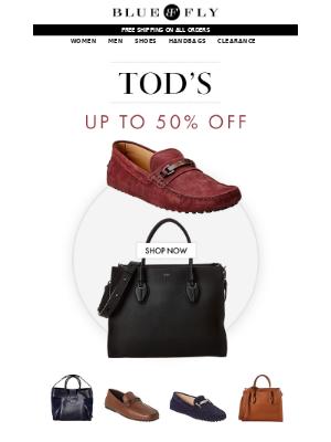 Bluefly - Tod's 50% Off | Prada 60% Off