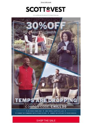 Scottevest - Last Day for 30% Off