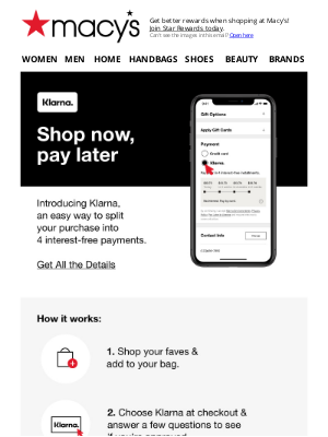 Macy's - New! Shop now, pay later with Klarna 🤗