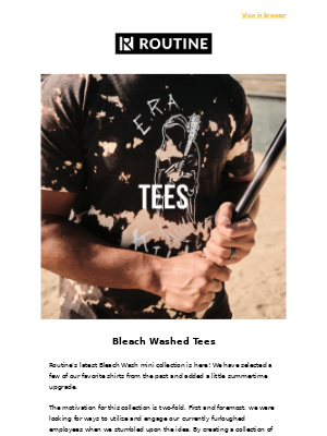 Bleached Washed Classic Tees are here!