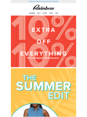 😱 Don't be caught without these 💃 Summer Collection from $3.99 + 10% OFF! ☀