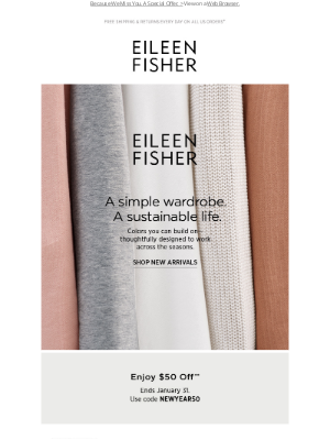 EILEEN FISHER - They're Here. New Arrivals.