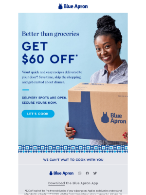 Blue Apron - Fun and easy recipes, delivered.