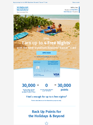 Wyndham Hotel Group - Lisa, Earn Points for up to 4 Free Nights This Holiday Season