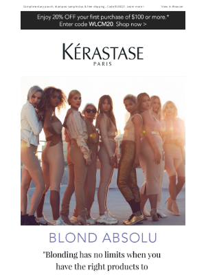 Kérastase - Attention Blondes! Cicaextreme Is Coming Soon