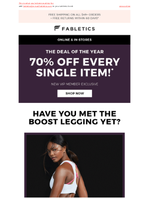 Fabletics - The deal of the year is here!