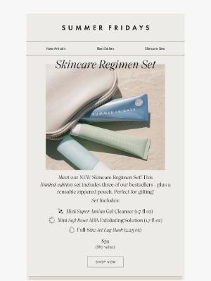 Summer Fridays - NEW IN: Skincare Regimen Set