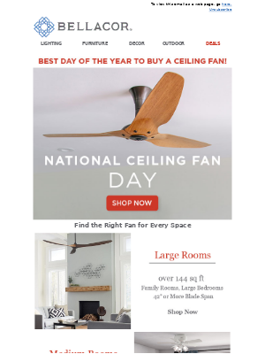 Bellacor - Give This A Whirl! National Ceiling Fan Day