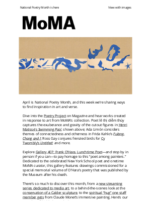 Museum of Modern Art Store (MoMA) - Celebrate the art of poetry, watch a new media art series, and look closely with our conservators