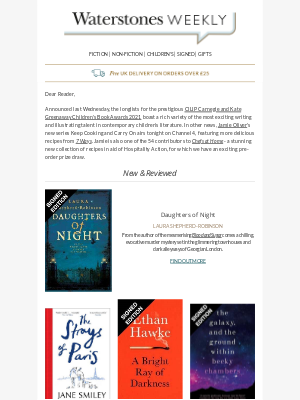 Waterstones (UK) - Fill Your Week With Fantastic Reading