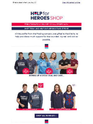 Help For Heroes - Time to layer up - save when you buy 2! 👍