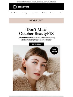 DermStore - Get October BeautyFIX before it's gone