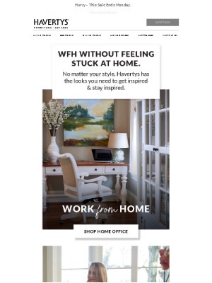 Havertys Furniture - Save On Your WFH Faves.