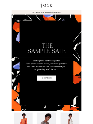 Joie - The Sample Sale Starts Now!