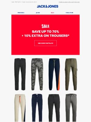 Jack & Jones - Flash deal: 10% extra off SALE trousers