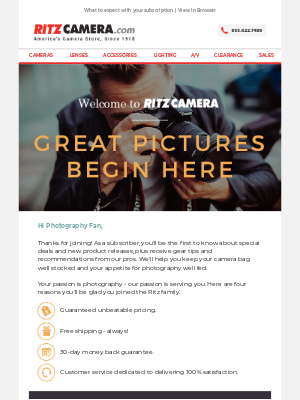 Ritz Camera - Thanks for signing up. Great pics start here.