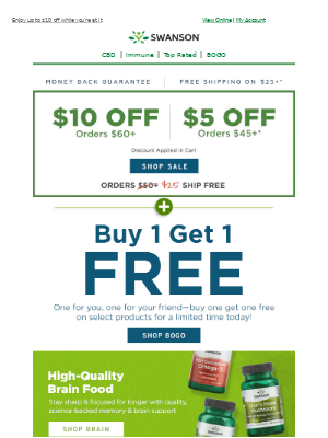 Swanson Health Products - 2 for the price of 1? YOU BET! 👏 And that's not all...