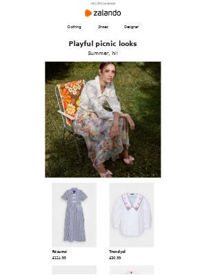 Playful picnic looks
