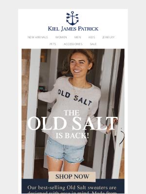 Kiel James Patrick - The Old Salt Sweater Is Back In Stock!
