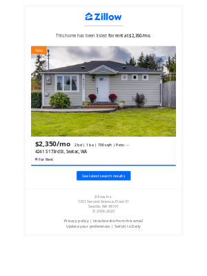 Zillow - New Listing: 4241 S 173rd St, Seatac, WA 98188. Your 'Seatac WA' Search.