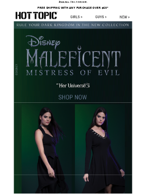 Go beyond the fairy tale with the Maleficent: Mistress of Evil collection.