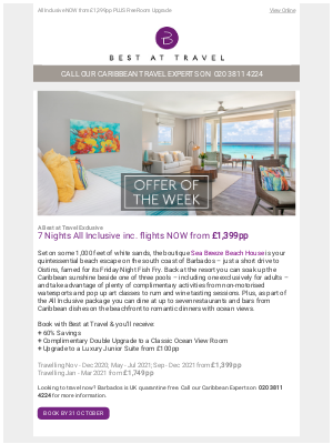 Best At Travel (UK) - Offer Of The Week 💜 Sea Breeze Beach Hotel