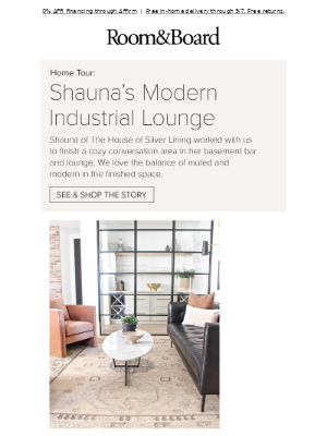 Peek inside a blogger's dream lounge space