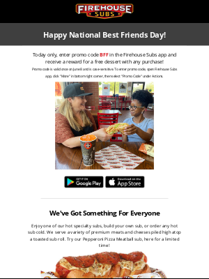 Firehouse Subs - Celebrate National Best Friends Day with Firehouse Subs 🔥