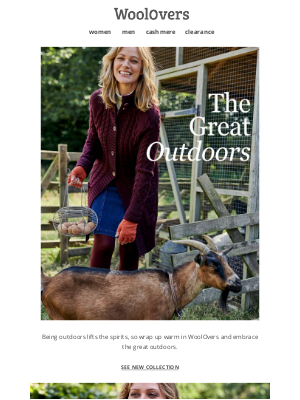 WoolOvers (UK) - Embrace The Great Outdoors This Season.