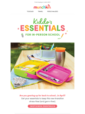 Munchkin - Kiddo's Essentials For In-Person School